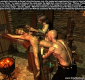 Bdsm art drawings. Ciuntess and her hangman tortures poor servant girl!