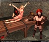 Submission comics. Slave girl was laid on the torture table!