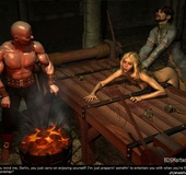 Bdsm comics. Blonde girl fucked right on the torture table!