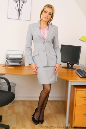 The boss wants a good office fuck with h - XXX Dessert - Picture 1