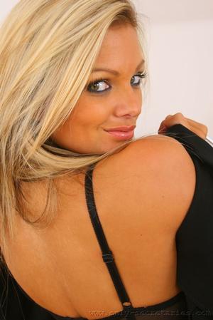 Busty blonde secretary loves wearing sto - XXX Dessert - Picture 6