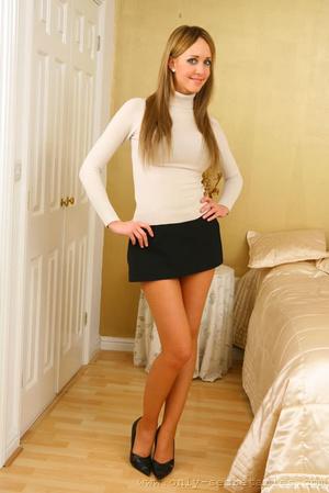 Femdom short skirt