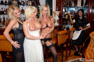 Lesbian party with gorgeous shaved pussi - Picture 5