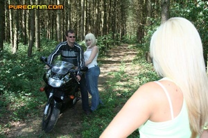Hot biker shows his dick to a bunch of y - XXX Dessert - Picture 20