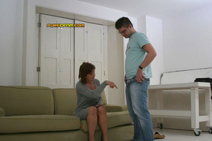 He gets spanked and his dick get stroked - XXX Dessert - Picture 1