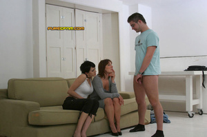 He gets spanked and his dick get stroked - XXX Dessert - Picture 18