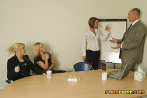 Three naughty blondes test the strength  - XXX Dessert - Picture 1