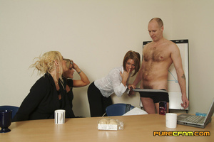 Three naughty blondes test the strength  - XXX Dessert - Picture 2
