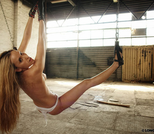 Sexy shaped young babe gets whipped while - Unique Bondage - Pic 4