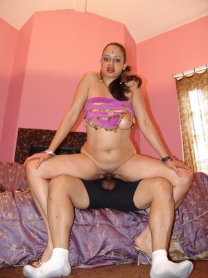 Chubby Indian With Saggy Tits Rides Cock - XXX Dessert - Picture 11