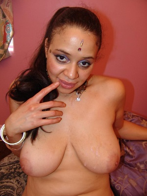 Chubby Indian With Saggy Tits Rides Cock - XXX Dessert - Picture 15