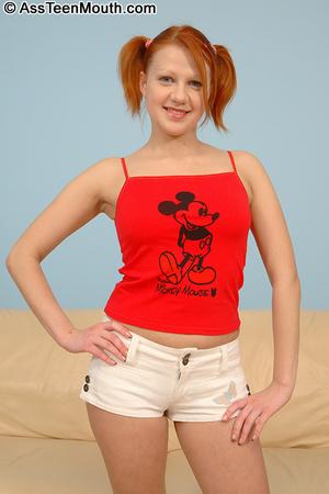 Deep throat porn. Teen redhead gets her  - XXX Dessert - Picture 5