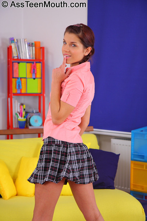 Anal ass to mouth. Cute schoolgirl gets  - XXX Dessert - Picture 3