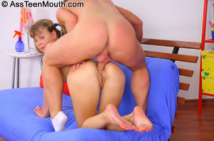 From ass to mouth. Teen gives a blowjob  - XXX Dessert - Picture 1