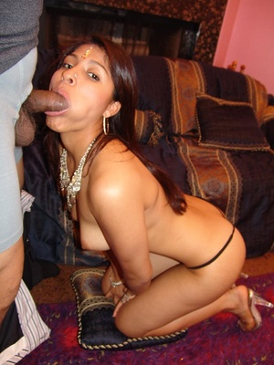 Cute Indian Mehla gobbles up a huge dick - XXX Dessert - Picture 9