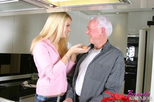 Old men young ladies. Blonde beauty ador - XXX Dessert - Picture 1