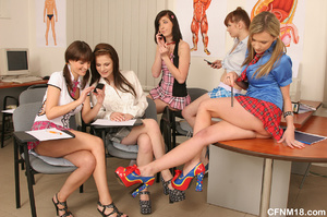 Perfect body school babes having fun whi - XXX Dessert - Picture 2