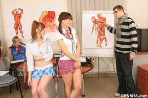 Perfect body school babes having fun whi - XXX Dessert - Picture 4