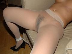 Blindgolded amateur slave beauty in black - Unique Bondage - Pic 5