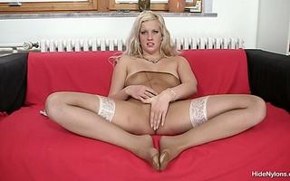 naughtyt blonde beauty white