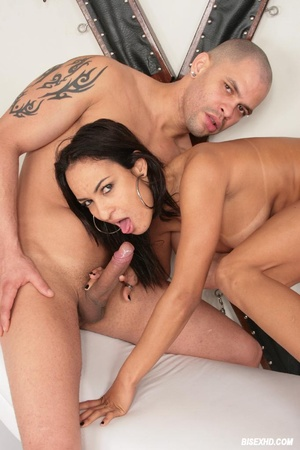Two bisexual dudes involve hot chick in  - XXX Dessert - Picture 18