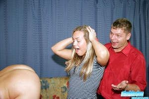 Blonde blindfolded hottie enjoying rough - XXX Dessert - Picture 7
