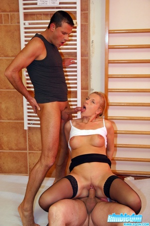 Doublepentrated blonde chick with great  - XXX Dessert - Picture 8