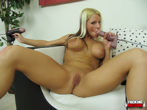 Huge boobs blonde girl gets her mouth an - XXX Dessert - Picture 14