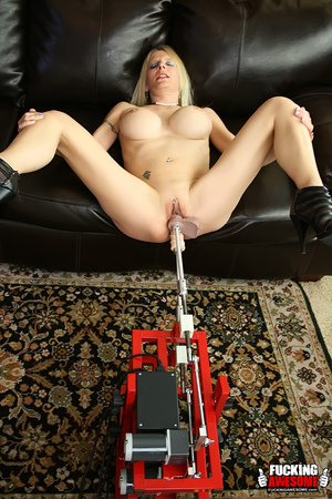 Busty naked milf blonde needs two dildos - XXX Dessert - Picture 1