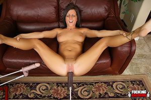 Check out sex machine's brown dildo pump - XXX Dessert - Picture 11