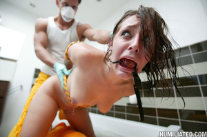 Deepthroted brunette teen gets chained a - XXX Dessert - Picture 10