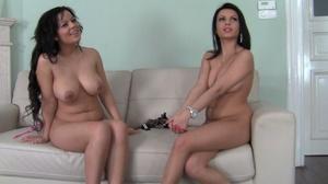 A pair of busty amateur brunettes involv - XXX Dessert - Picture 2