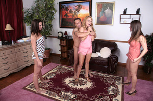 Three young bimbos in sexy tight outfits - XXX Dessert - Picture 5