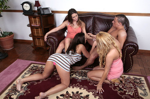 Three young bimbos in sexy tight outfits - XXX Dessert - Picture 13