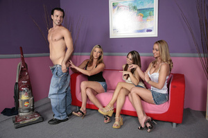 Hot CFNM party pics of three nasty babes - XXX Dessert - Picture 1