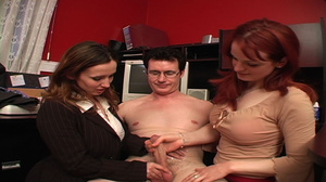 Older guy enjoying awesome CFNM action w - XXX Dessert - Picture 8