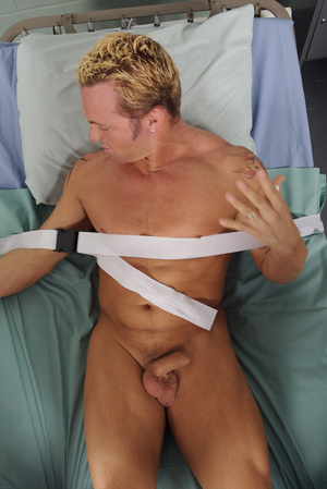 Tied up to the bed hospital patient is u - XXX Dessert - Picture 2
