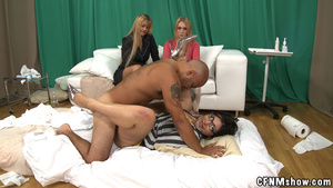Tattoed guy doesn't mind his dick sucked - XXX Dessert - Picture 15