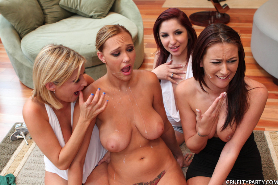 cruelty party cumshot pussy - Cum hungry party chicks having great group - XXX Dessert - Picture 16