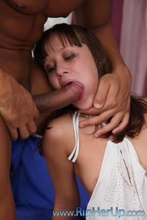Cute girl gets her mouth full of hot jiz - XXX Dessert - Picture 16