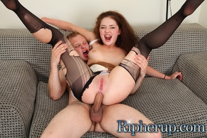 Horny dude rips up hot teen's pantyhose  - XXX Dessert - Picture 13