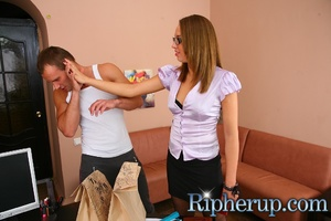 Deliveryman gets horny when hot secretar - XXX Dessert - Picture 3
