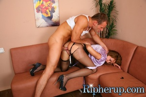 Deliveryman gets horny when hot secretar - XXX Dessert - Picture 8