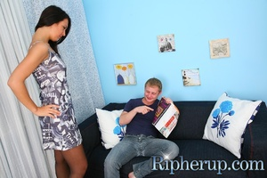 Hot brunette gets her clothes torn abnd  - XXX Dessert - Picture 2