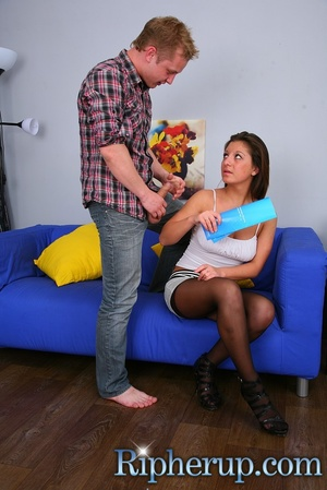 Dirty guy tears chick's strings with his - XXX Dessert - Picture 2