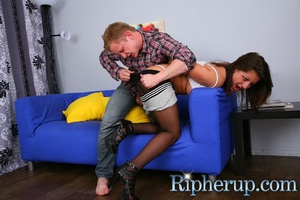Dirty guy tears chick's strings with his - XXX Dessert - Picture 6