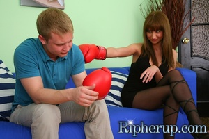 Guy gets horny when his girlfriend plays - XXX Dessert - Picture 2