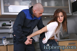 Plumber gets horny and strikes ha flat h - XXX Dessert - Picture 3