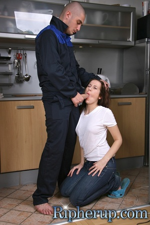 Plumber rips up clothes on hot girl and  - XXX Dessert - Picture 4