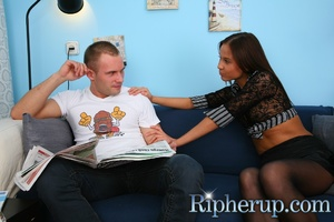 Poor girl gets he pantyhose and clothes  - XXX Dessert - Picture 2